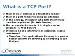what is a tcp port