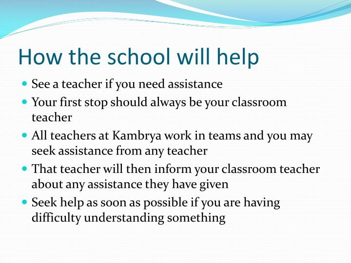 How the school will help