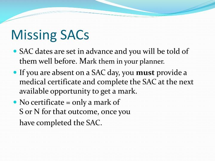 Missing SACs