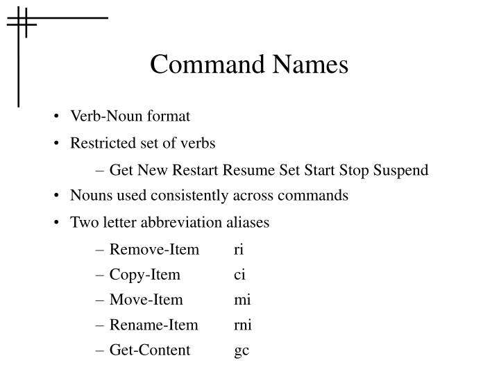 Command Names