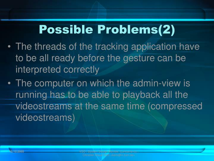 Possible Problems(2)
