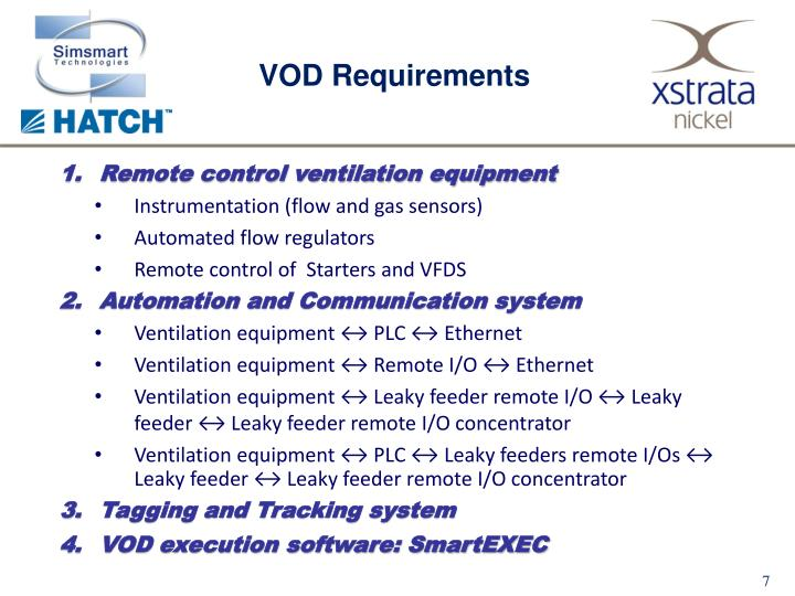 VOD Requirements