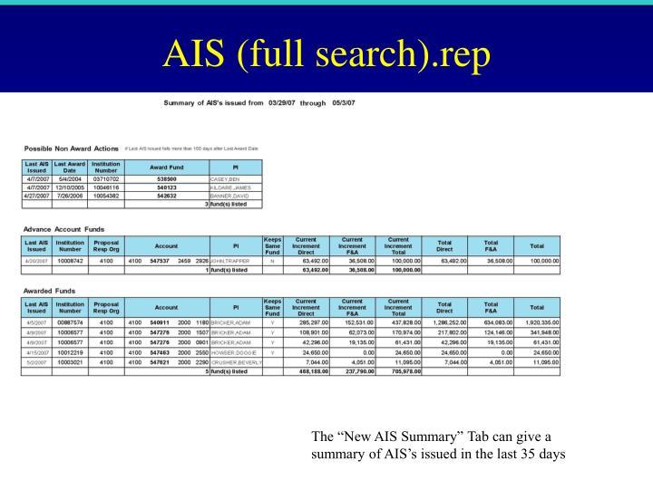 AIS (full search).rep