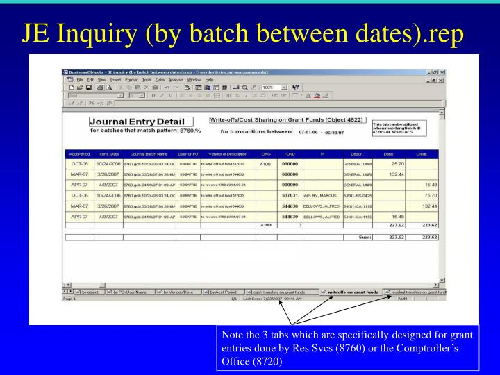JE Inquiry (by batch between dates).rep
