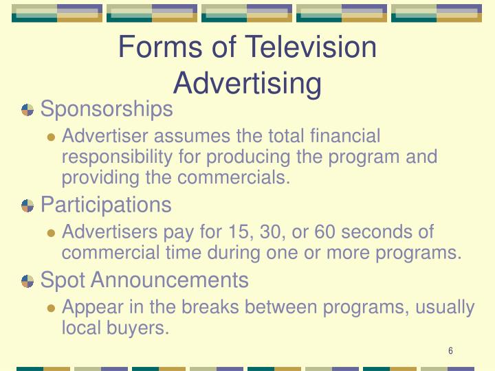 Forms of Television Advertising