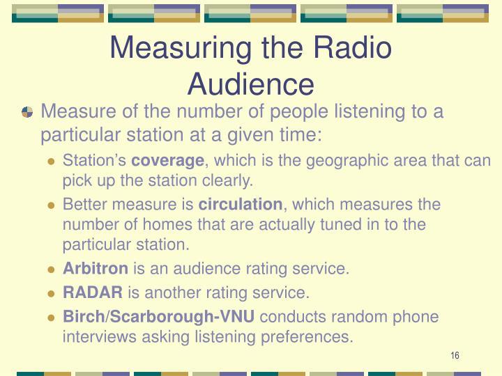Measuring the Radio Audience