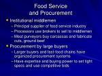 food service and procurement