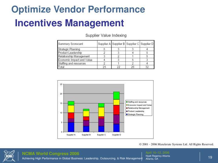 Optimize Vendor Performance