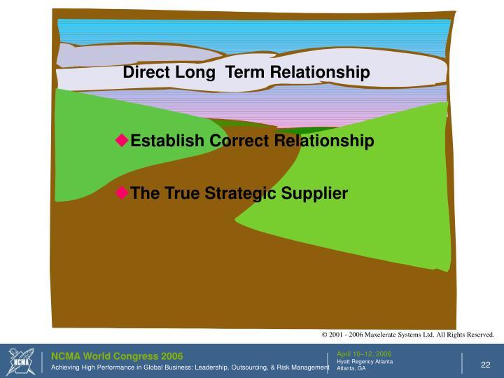Direct Long  Term Relationship
