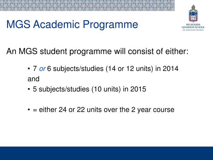 MGS Academic Programme