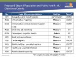 proposed stage 3 population and public health mu objectives criteria