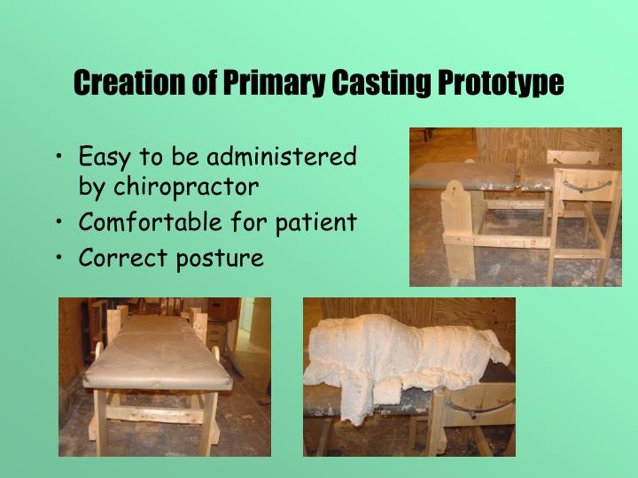 Creation of Primary Casting Prototype