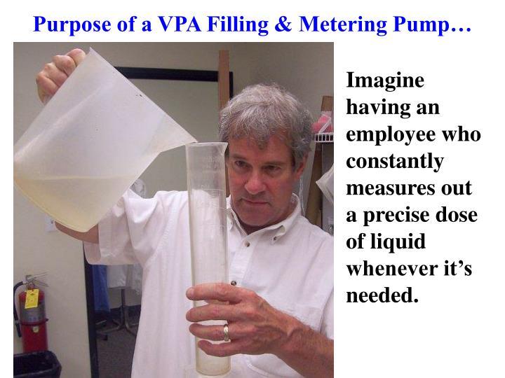 Purpose of a VPA Filling & Metering Pump…