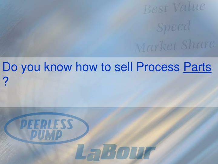 Do you know how to sell Process