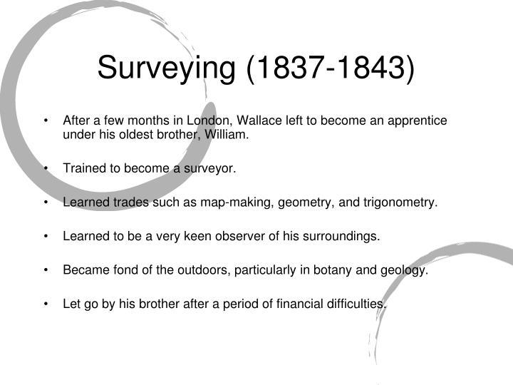 Surveying (1837-1843)