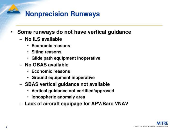 Nonprecision Runways