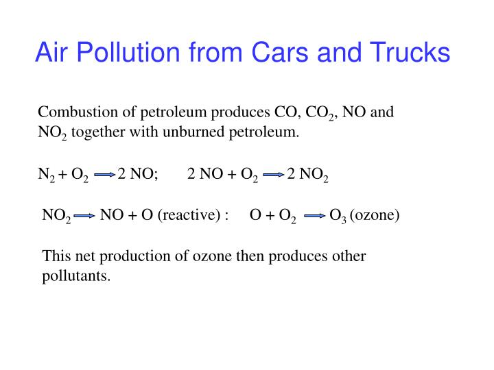 Air Pollution from Cars and Trucks
