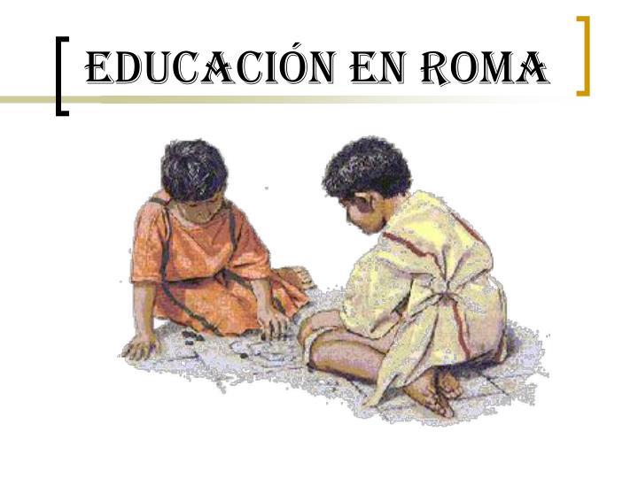Educación en Roma