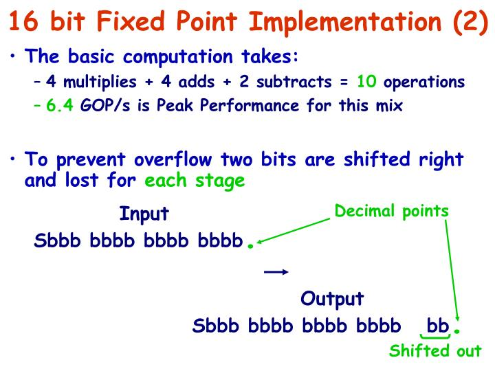 16 bit Fixed Point Implementation (2)
