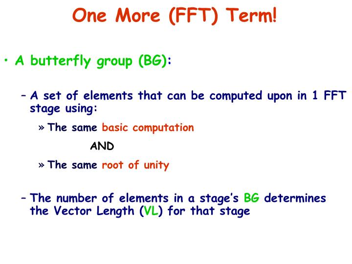 One More (FFT) Term!