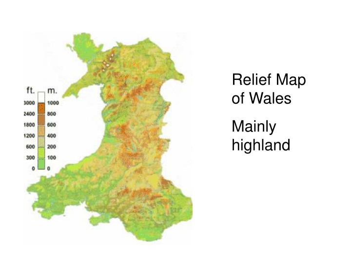 Relief Map of Wales