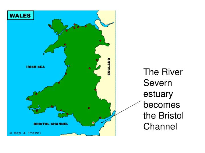 The River Severn estuary becomes the Bristol Channel
