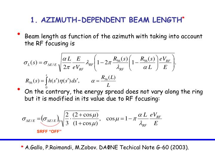 1. AZIMUTH-DEPENDENT BEAM LENGTH
