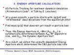 3 energy aperture calculation