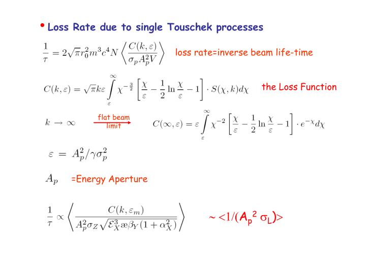 Loss Rate due to single Touschek processes