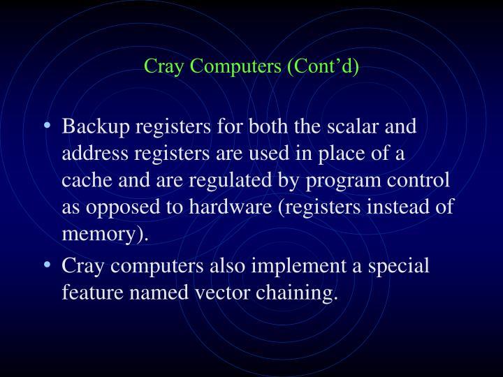 Cray Computers (Cont'd)
