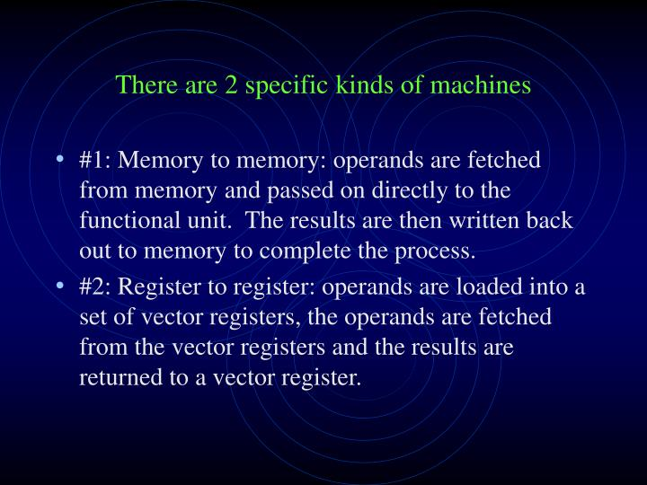 There are 2 specific kinds of machines
