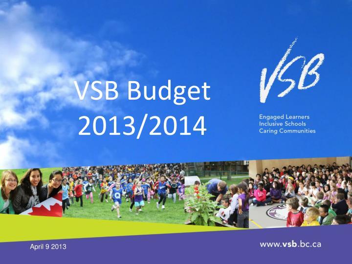 VSB Budget 2013/2014