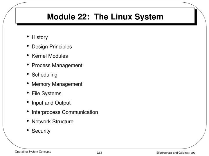 module 22 the linux system