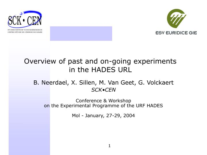 Overview of past and on-going experiments