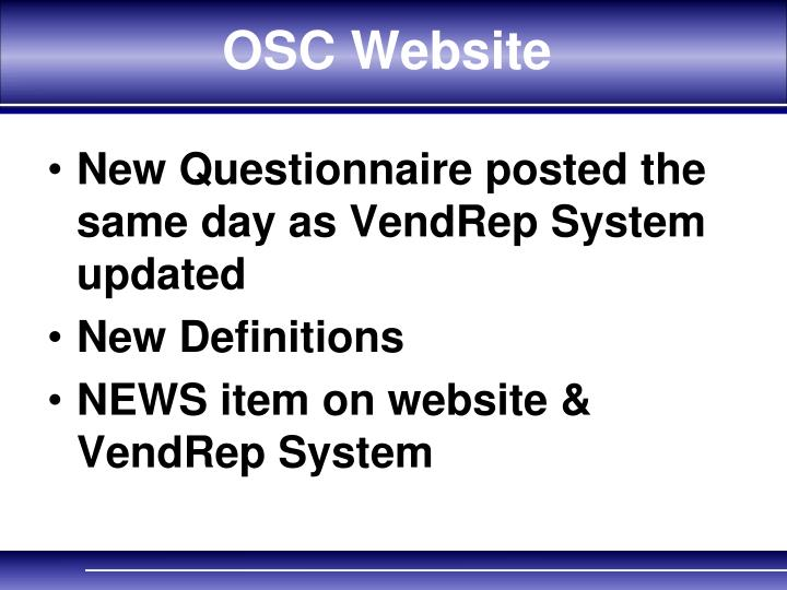 OSC Website
