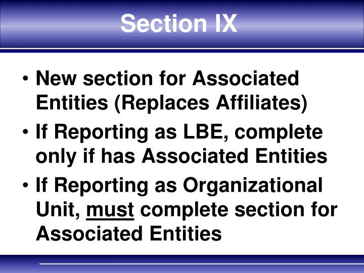 Section IX