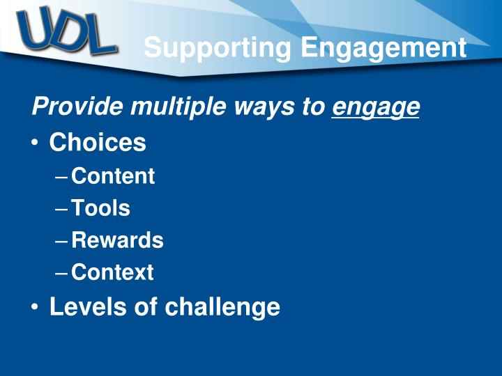 Supporting Engagement