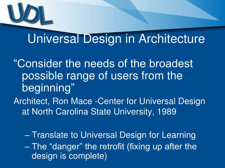 Universal Design in Architecture
