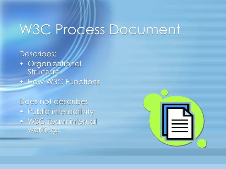 W3C Process Document