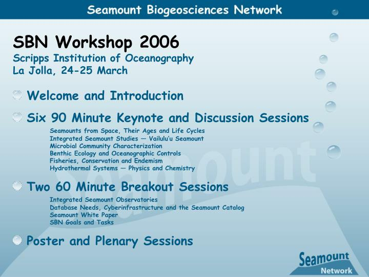 SBN Workshop 2006