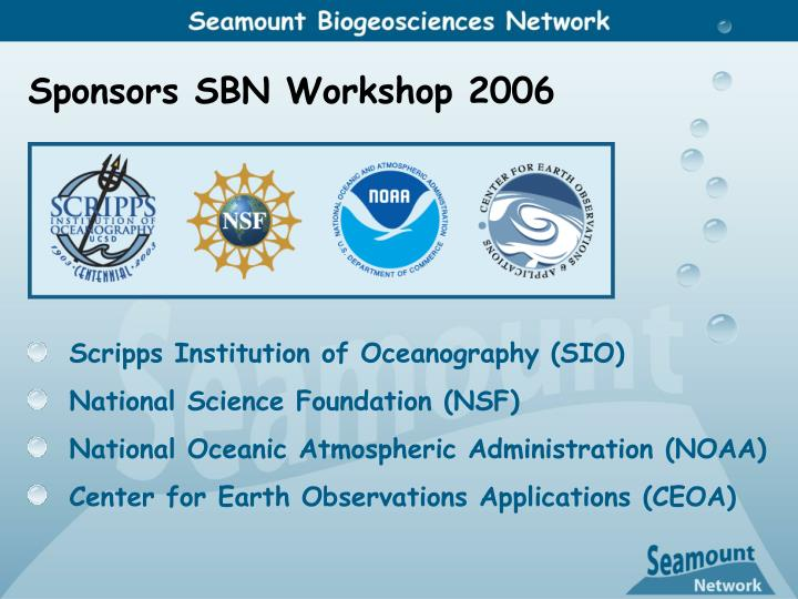 Sponsors SBN Workshop 2006