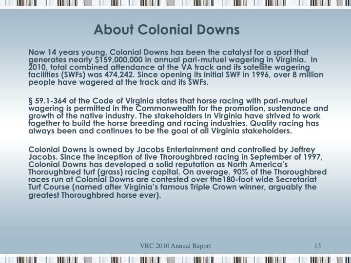 About Colonial Downs