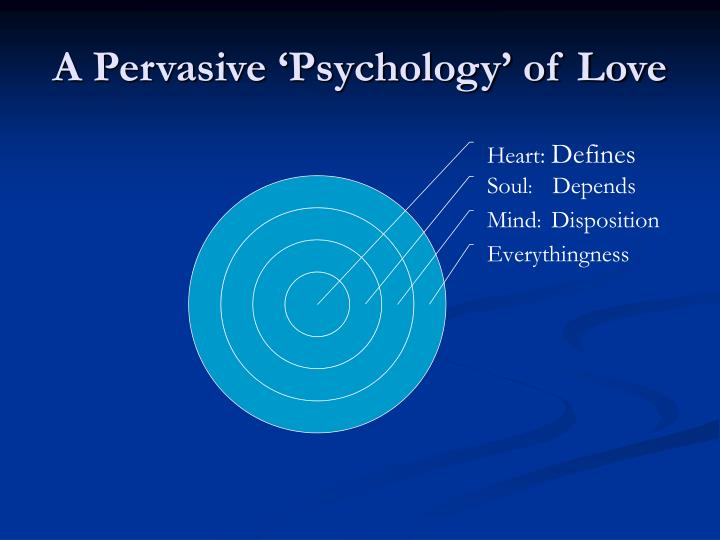 A Pervasive 'Psychology' of Love