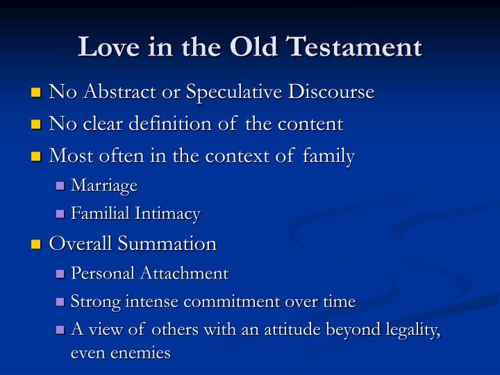 Love in the Old Testament