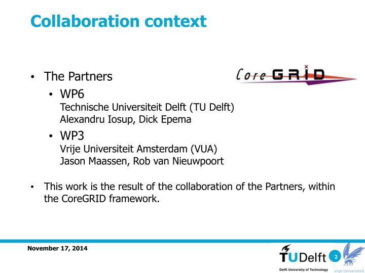 Collaboration context