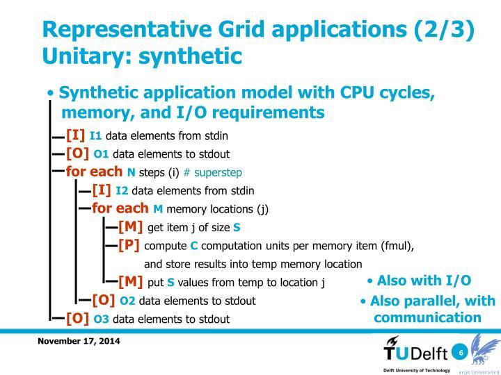 Representative Grid applications (2/3)