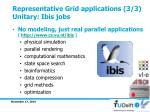 representative grid applications 3 3 unitary ibis jobs
