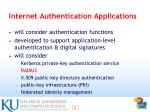 internet authentication applications