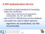 x 509 authentication service