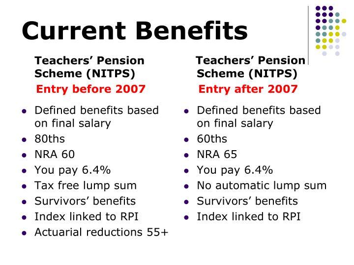 Current Benefits